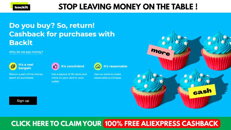 Backit AliExpress Cashback