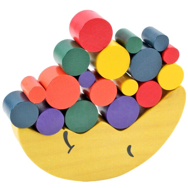 KIDS WOOD MOON BALANCING GAME