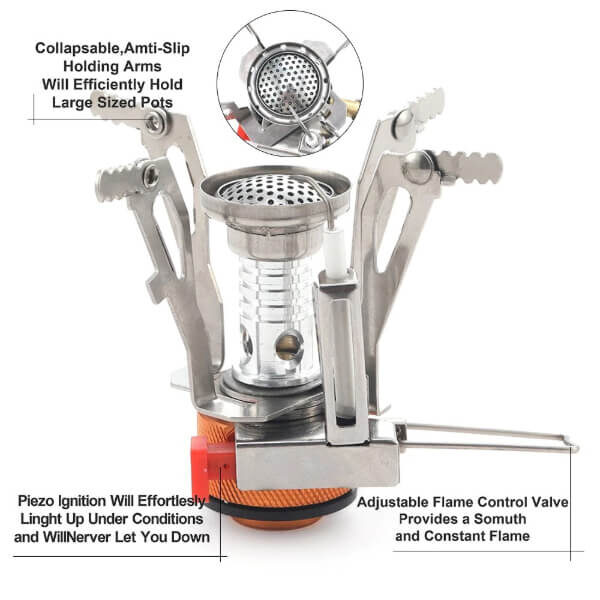 ULTRALIGHT PORTABLE MINI CAMPING STOVE