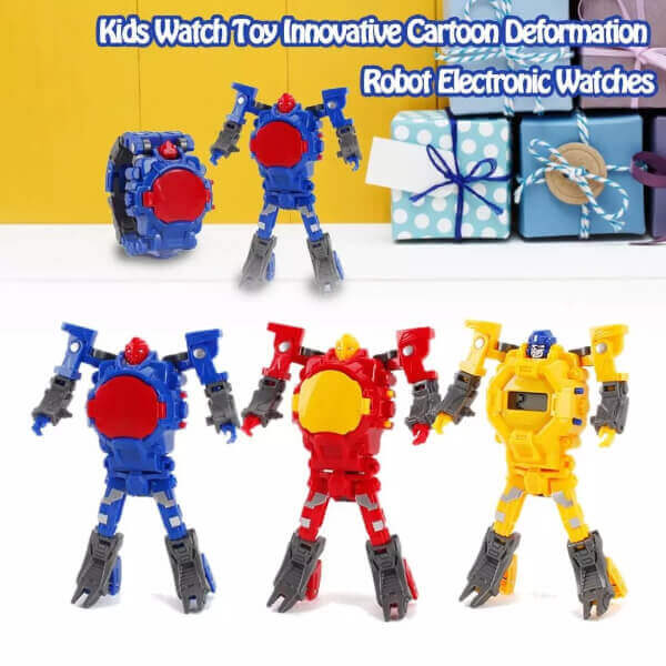 2 IN 1 TRANSFORMING ROBOT TOY WATCH