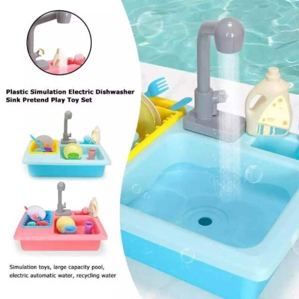 PRETEND AND PLAY KITCHEN SINK TOY SET