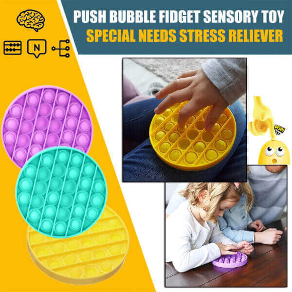 ANTISTRESS PUSH BUBBLE FIDGET SENSORY TOY