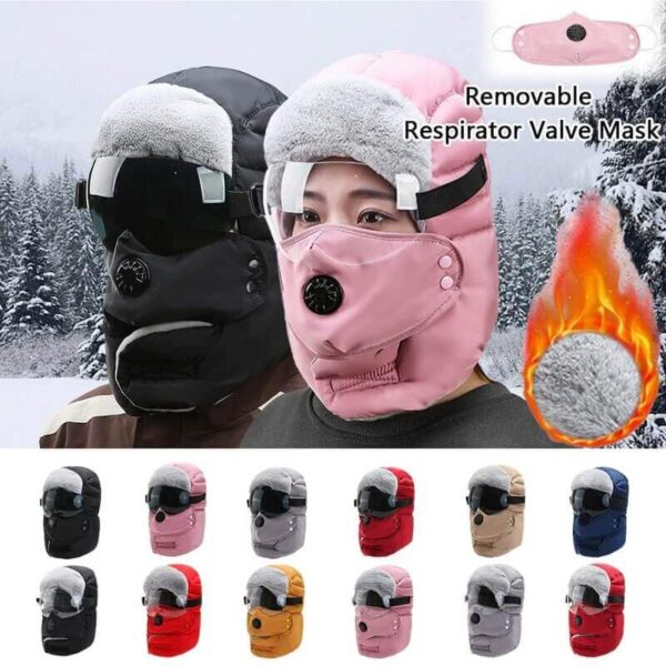 WINTER WARM CAP WITH GLASSES