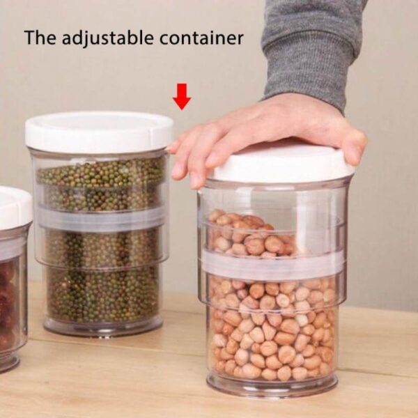 EXTENDABLE JAR FOOD STORAGE