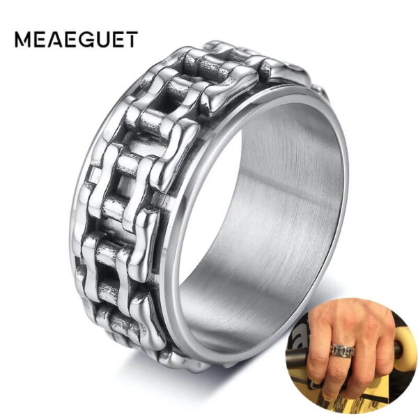 MOTORCYCLE CHAIN LINK SPINNER RING