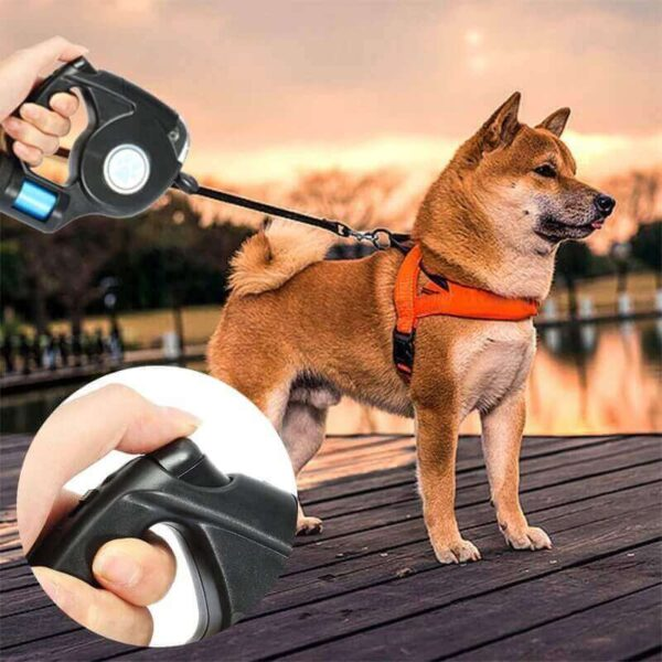 3 IN 1 PET LEASH LED LIGHT WITH GARBAGE BAG