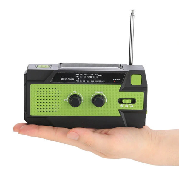 6 IN 1 EMERGENCY SURVIVAL RADIO