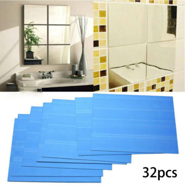 SELF-ADHESIVE MIRROR WALL STICKER