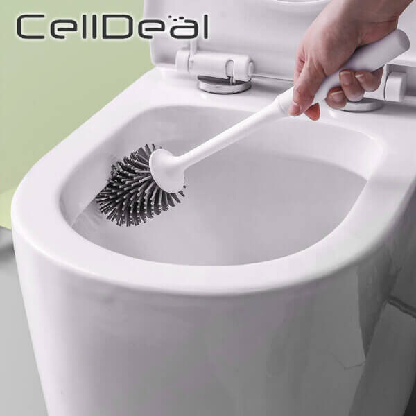 TOILET SILICONE BRUSH & RUBBER HEAD HOLDER