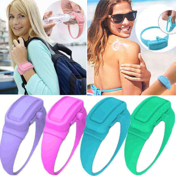 4PCS WRISTBAND HAND DISPENSER SANITIZER