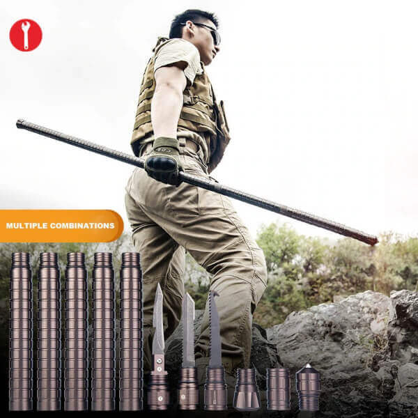 SURVIVAL CANE AND TACTICAL WALKING STICK