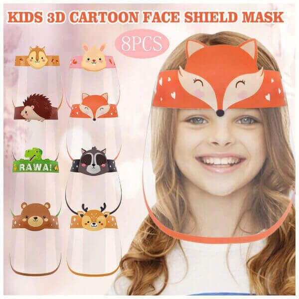 KIDS CARTOON TRANSPARENT FULL FACE SHIELDS