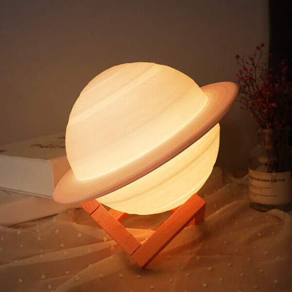 USB RECHARGEABLE SATURN LAMP