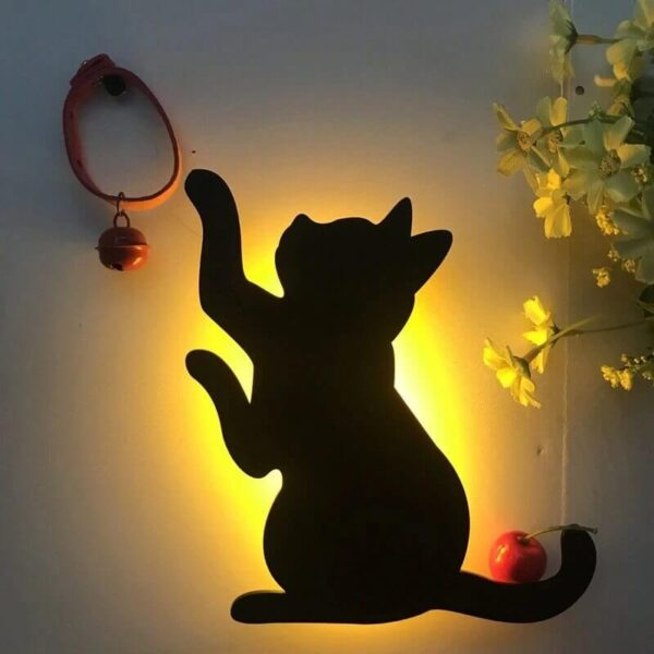 3D SOUND SENSOR CAT LAMP