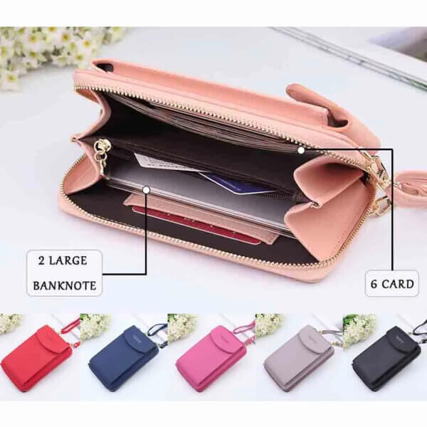 WOMEN PURSE HAND BAG WITH PHONE POCKET