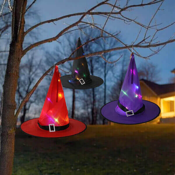 LED LIGHTS HALLOWEEN WITCH HAT WIZARD