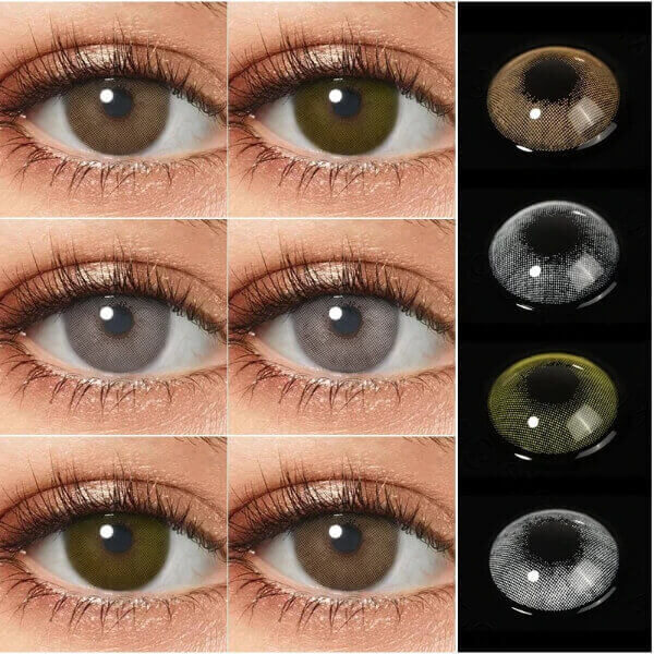 SUPER GLITTER SPACE GREY 7 COLORS CONTACT LENSES