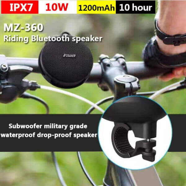 PORTABLE WATERPROOF BICYCLE BLUETOOTH SPEAKER