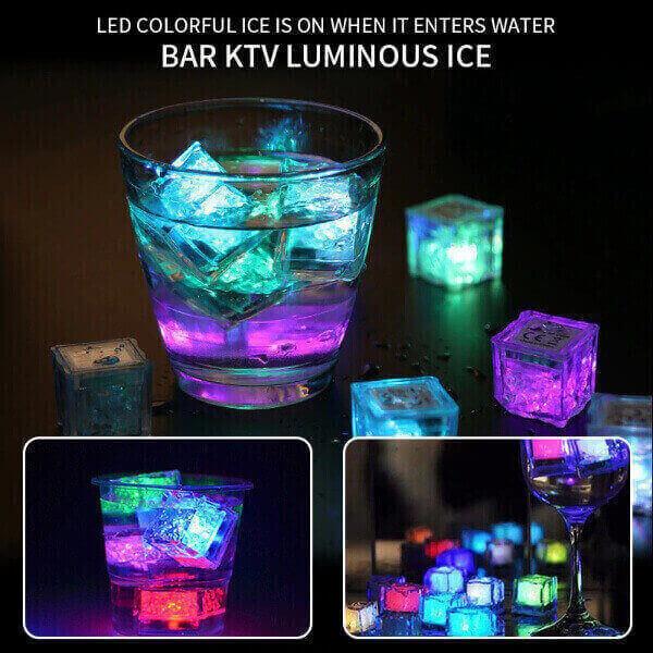 3PCS LED PARTY ICE CUBES