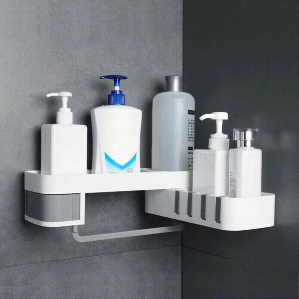 ROTATING SHOWER STORAGE RACK