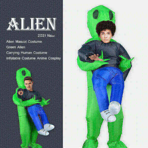 INFLATABLE ALIEN MASCOT COSTUME