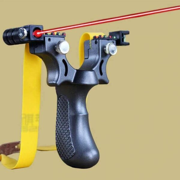 POWERFUL RUBBER LASER AIMING HUNTING SLINGSHOT
