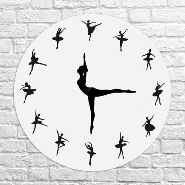 DANCING BALLERINA WALL CLOCK