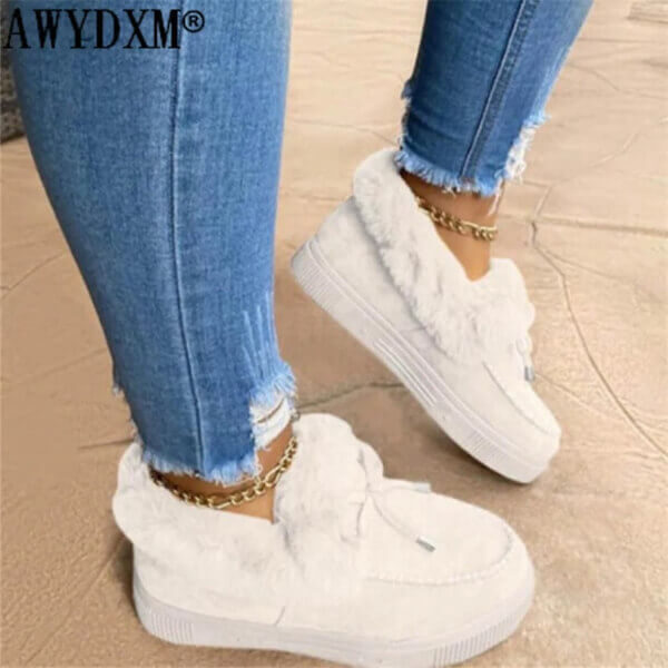 WOMEN FLUFFY ANKLE BOOTS
