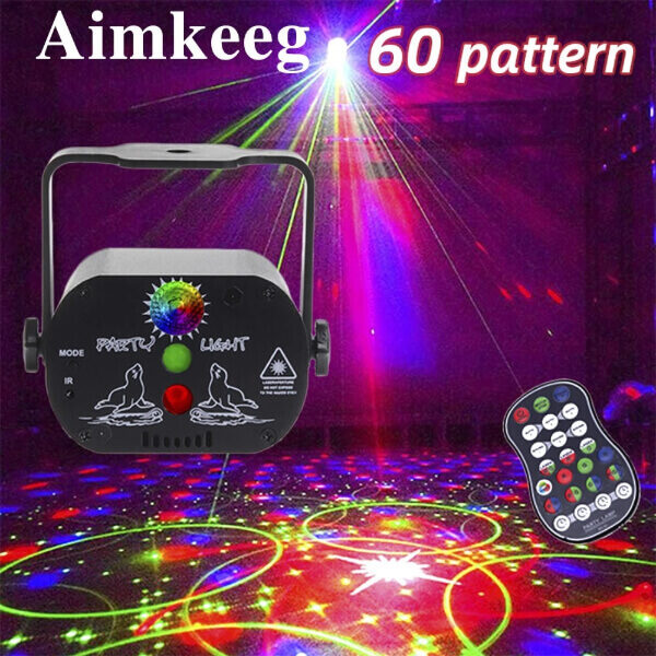 60 PATTERNS DISCO LIGHTS