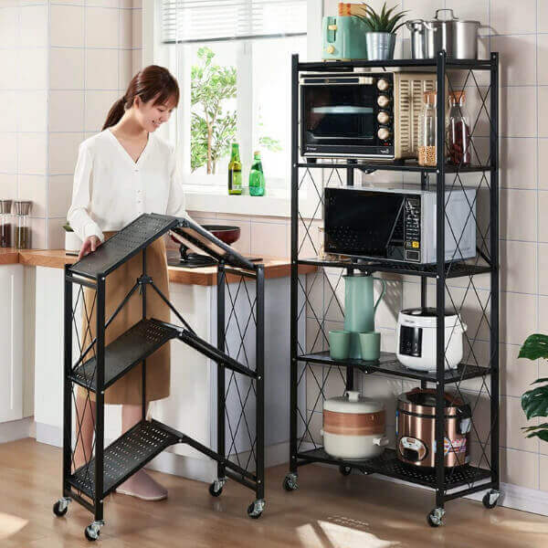 3-SHELF FOLDING STORAGE RACK