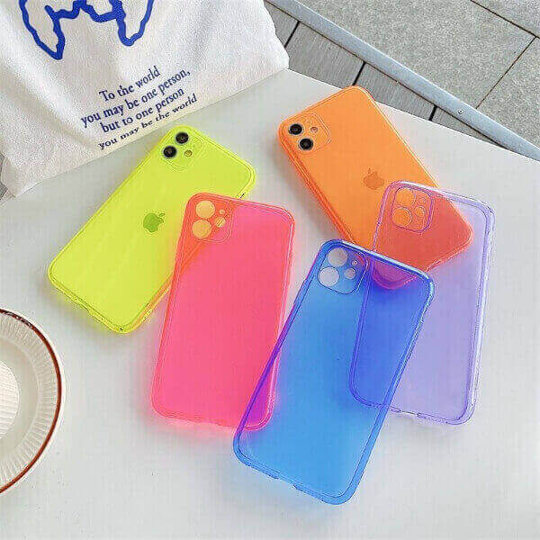 NEON FLUORESCENT SOLID COLOR  IPHONE CASE