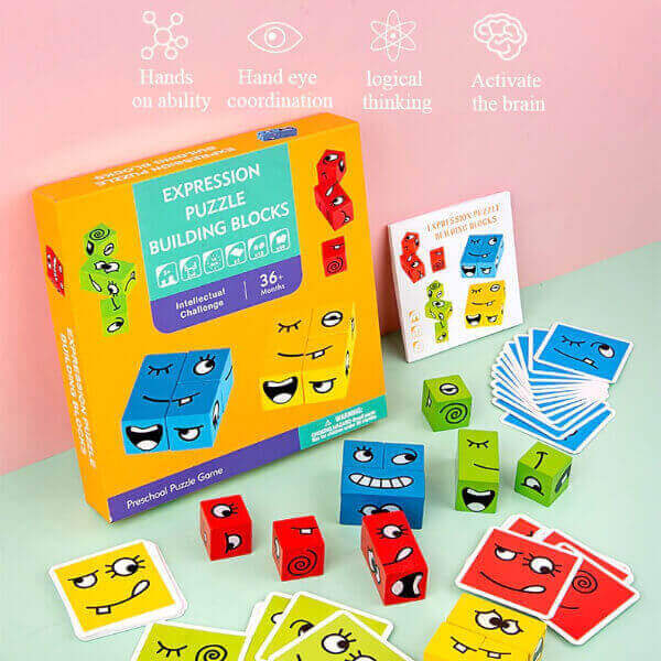 CARTOON FACE CHANGING CUBE GAME