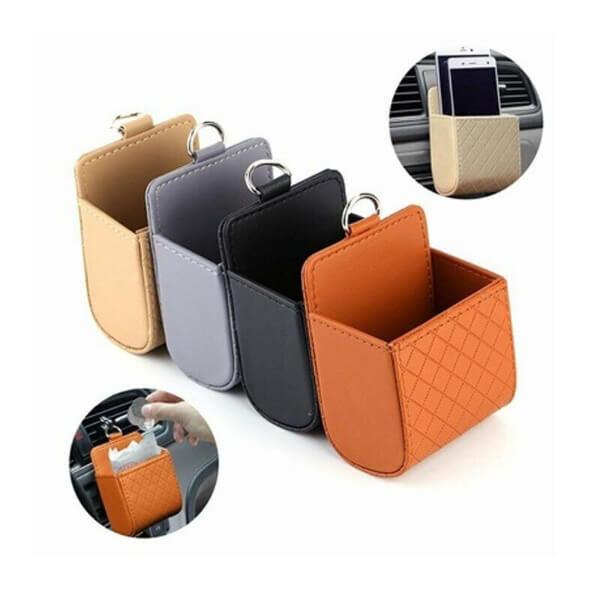 CAR MINI STORAGE PHONE HOLDER & BAG