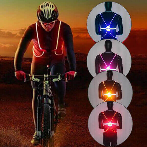 LED SAFETY RUNNING HARNESS