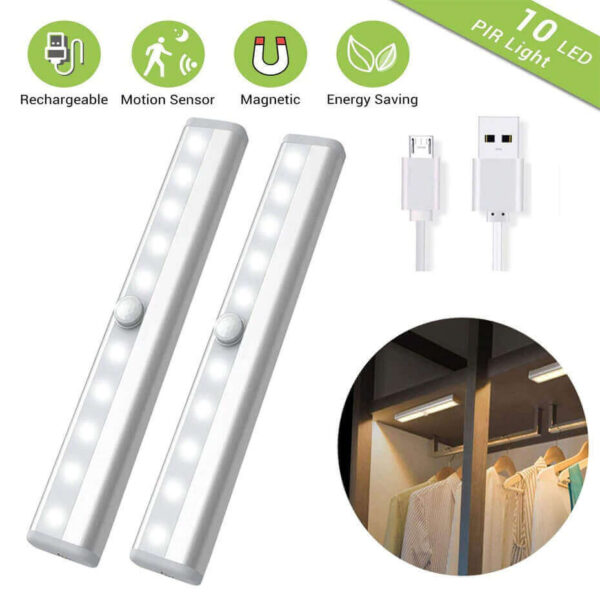 RECHARGEABLE MOTION SENSOR LED LIGHTS