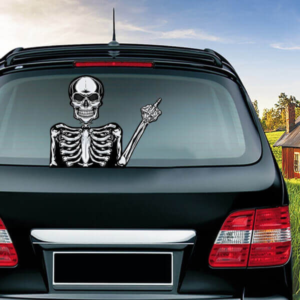 HORROR SKULL HALLOWEEN CAR WIPER STICKER