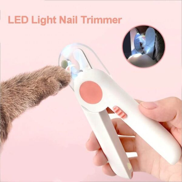 COMFORTABLE HANDLE LED PET NAIL CLIPPER