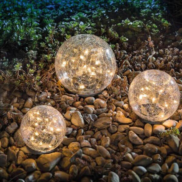 GARDEN SOLAR LED GLASS BALL LAWN LAMP
