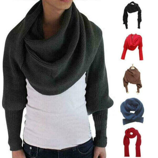 WINTER STYLISH WOMEN KNITTED SLEEVES SCARF