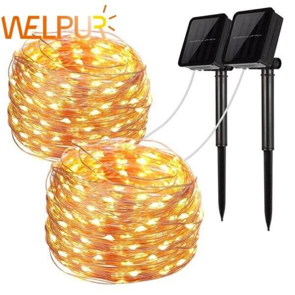 LED OUTDOOR SOLAR LAMP STRING LIGHTS