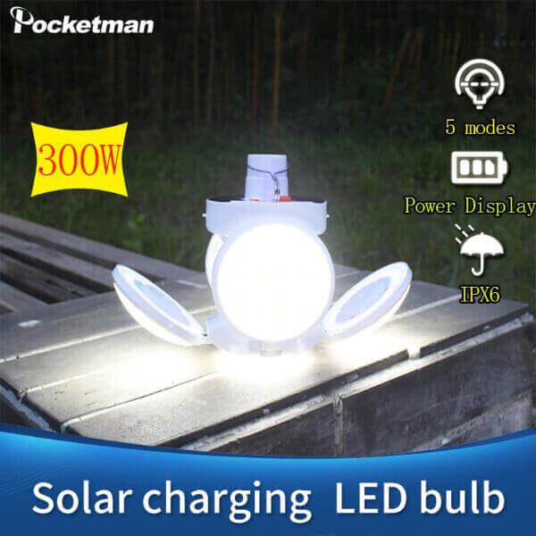 CAMPING WATERPROOF LED SOLAR LIGHT BULB