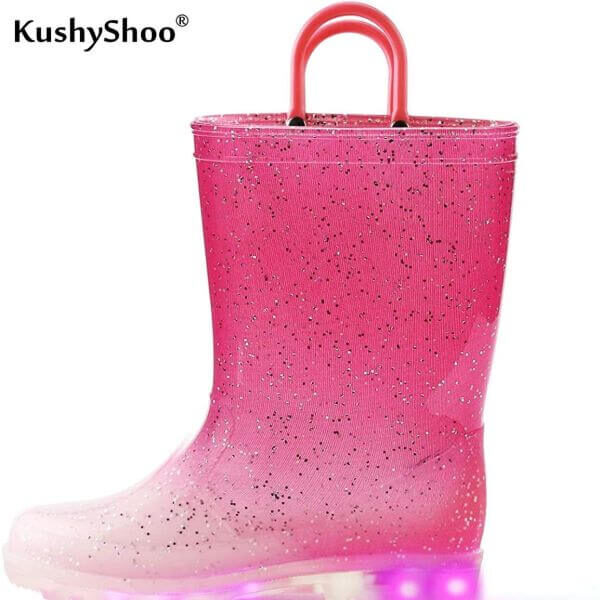 TODDLER & CHILDREN RAIN BOOTS WITH SAFETY LIGHTS