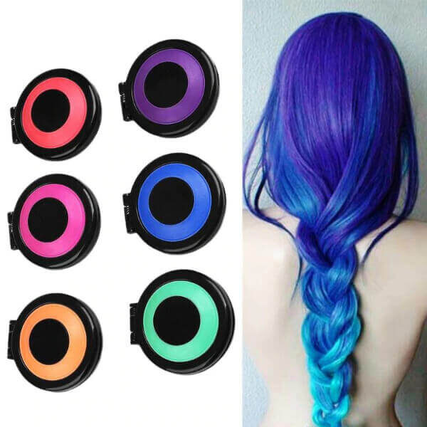 HAIR CHALK TEMPORARY HAIR DYE POWDER