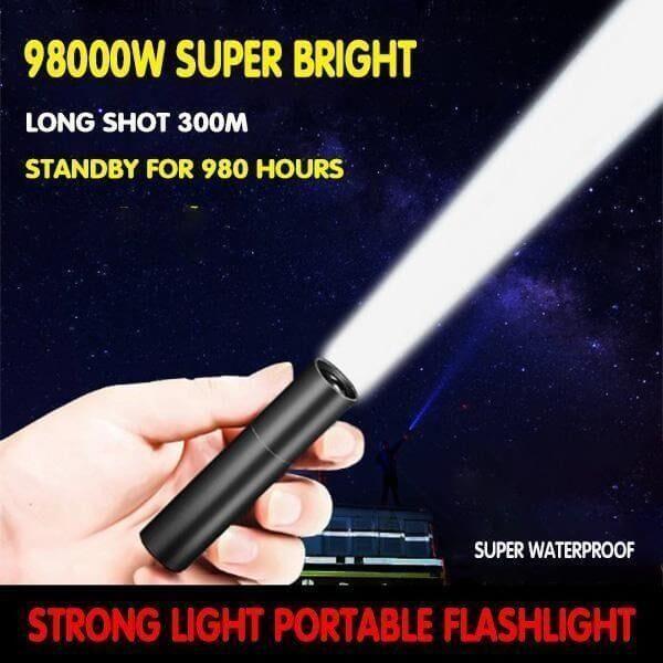 PORTABLE  USB STRONG LED FLASHLIGHT