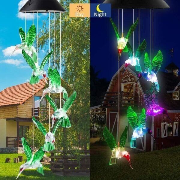 SOLAR-POWERED WIND CHIME LIGHTS
