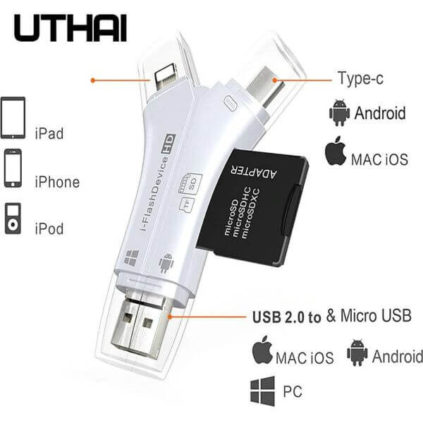 4 IN 1 SD MEMORY CARD READER