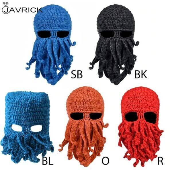 FUNNY PARTY OCTOPUS BEARD HAT