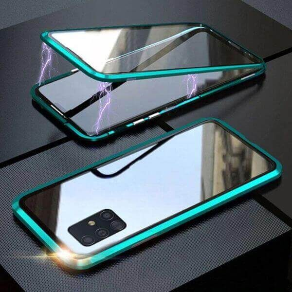 TWO SIDE TEMPERED GLASS MAGNETIC PHONE CASE