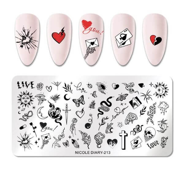 NAIL STAMPER RECYCLABLE NAIL PLATES