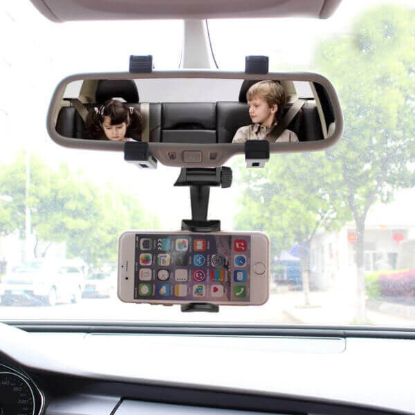 UNIVERSAL REARVIEW CAR PHONE HOLDER
